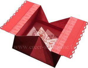 carte st valentin ouverte
