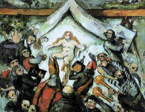 l'eternel feminin ou le veau d'our 1877 Cezanne