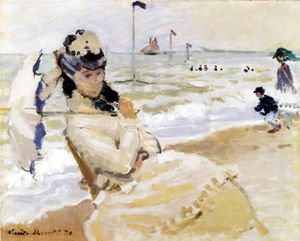 0118-0121 camille am strand bei trouville