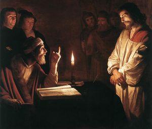 Gerrit van Honthorst 1617 Christ devant le grand prêtre