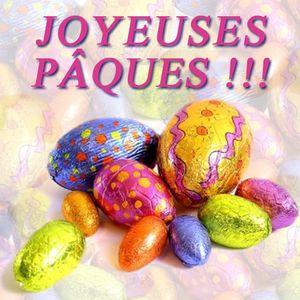 Joyeuses Paques œufs