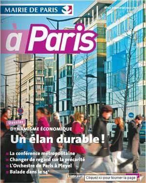 Cliquez pour lire le magazine interactif de la ville de Paris