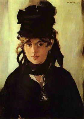 Berthe Morisot par Edouard Manet (1870), huile sur toile ex