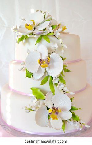 Pièce montée americaine avec orchidées décoré-copie-2