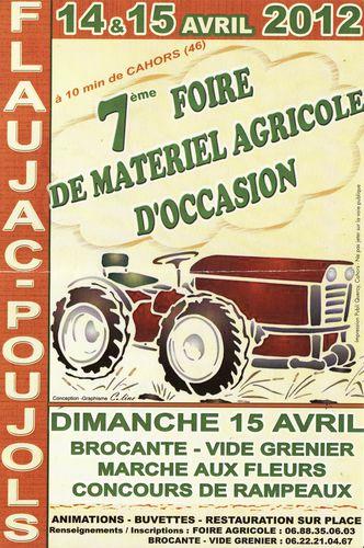 Avril 2012 Affiche Bourse Matériel Agricole Flaujac Poujol