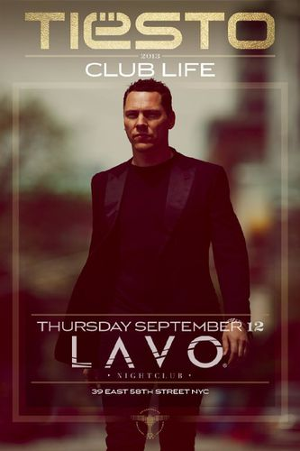 @tiesto date Lavo - New York City 12 september 2013