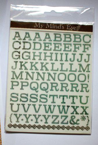 alphabet rub'ons
