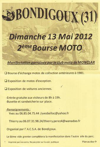 Affichette Bourse Moto Bondigoux Mai 2012