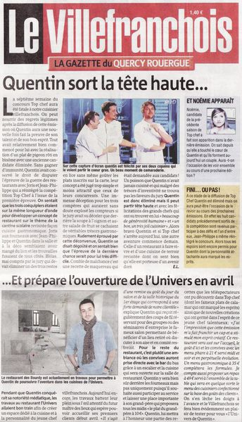 Le Villefranchois Article Top Chef Quentin Bourdy Aveyron 0