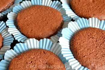 cupcakes chocolat pour baby shower  2