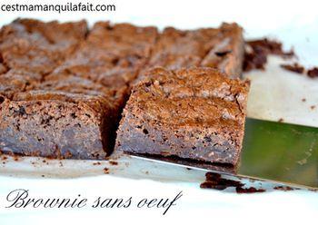 brownie sans oeuf au chocolat (5) c'est maman qui l'a fait