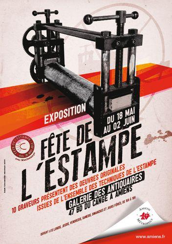 a3 affiche expo estampes 2013