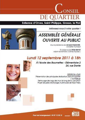 Conseil de quartier Grosso 2011