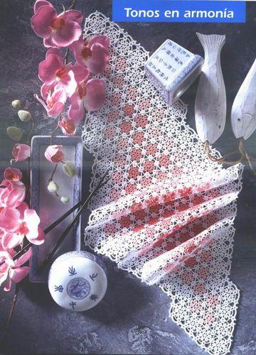 napperon rose et blanc.