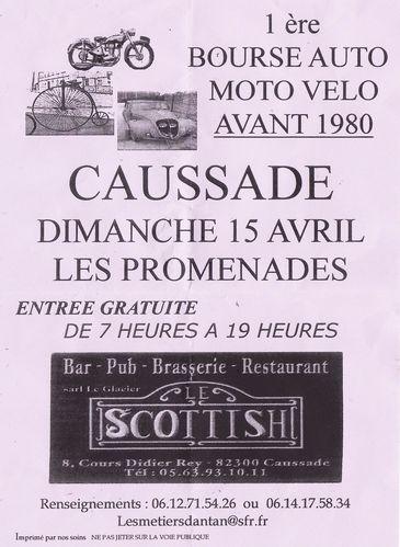 Avril 2012 Affiche Bourse Motos Anciennes Caussade