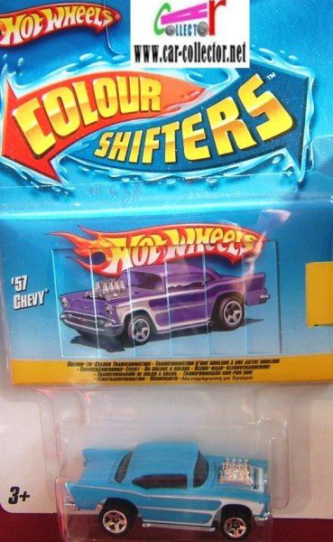 '57 chevy moteur coulour shifters hot wheels