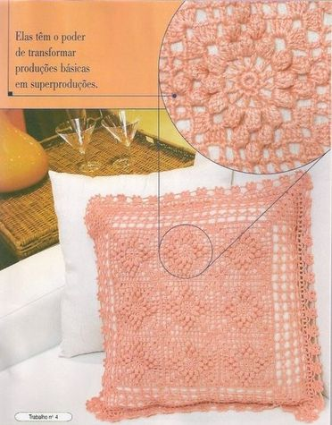 coussin rose.