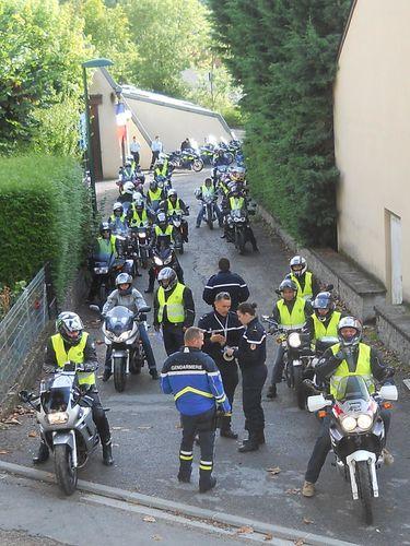 Septembre 2013 Rally Gendarmerie La Fouillade Balade Motard
