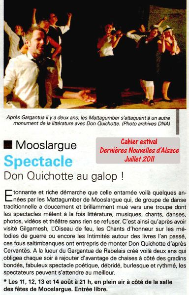 Don Quichotte DNA juillet 2011