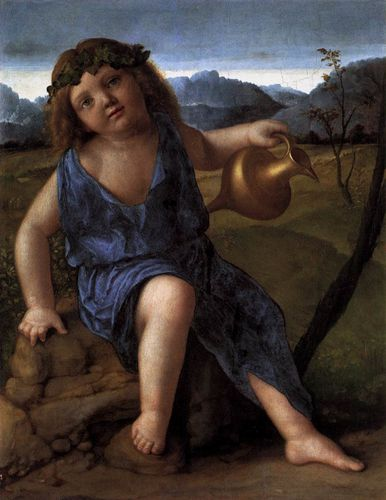 bellini - Young Bacchus. 1514. Oil on wood. 48 x 3-copie-1