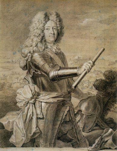 1690 (v) - Homme ave bâton de commandement