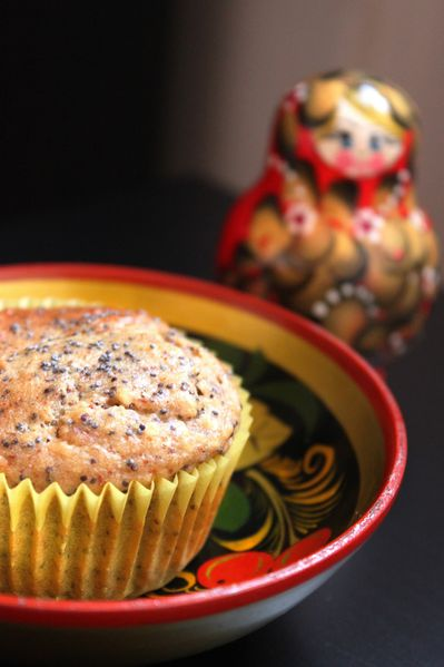 muffins russes pavot