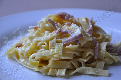 taglatelles carbonara
