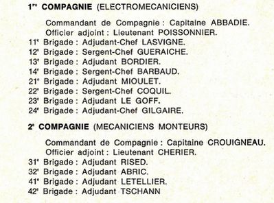 COMPAGNIE INSTRUCTION 1973