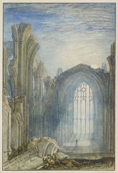 1822 Turner Melrose abbey Manton Coll.1822-Watercolor on p