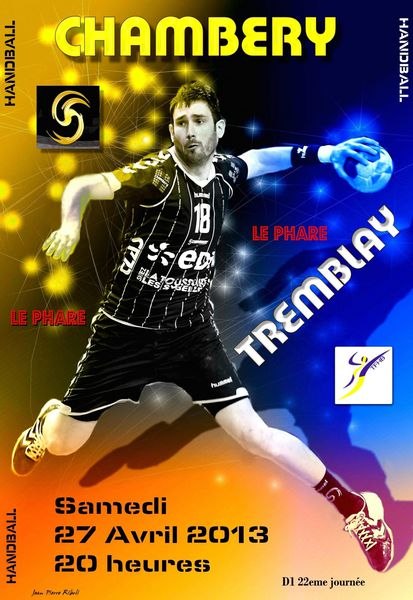 Affiche D1 CHAMBERY TREMBLAY 27 04 2013 N°2