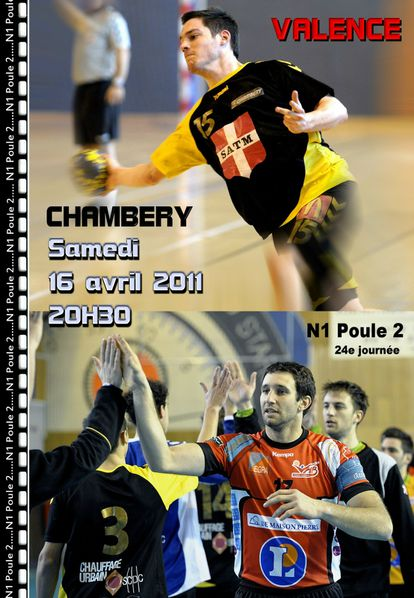 Affiche N1 VALENCE CHAMBERY 16 04 2011