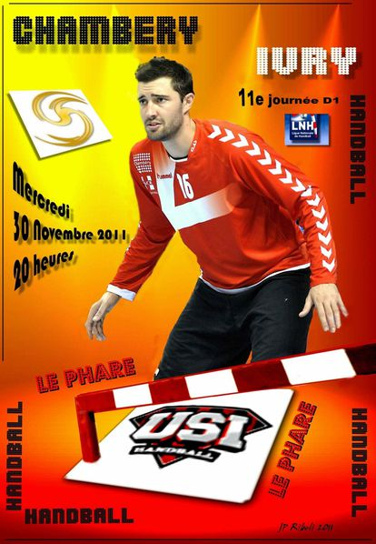 Affiche D1 CHAMBERY IVRY 30 11 2011