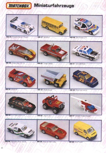 catalogue matchbox 1991 m06