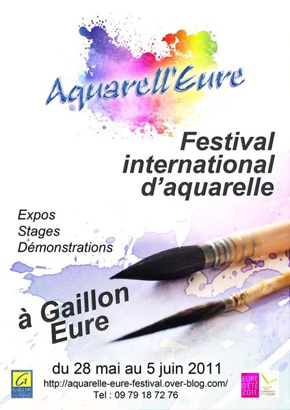 affiche aquarell'eure 9 small