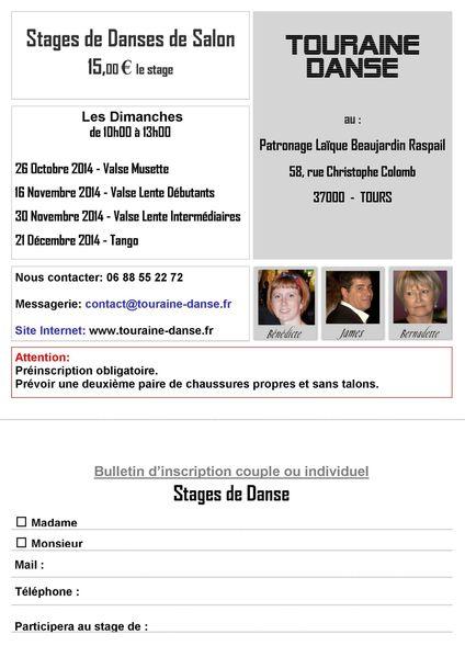 Stages 2014-2015 Flyer + Bulletin d'inscription-