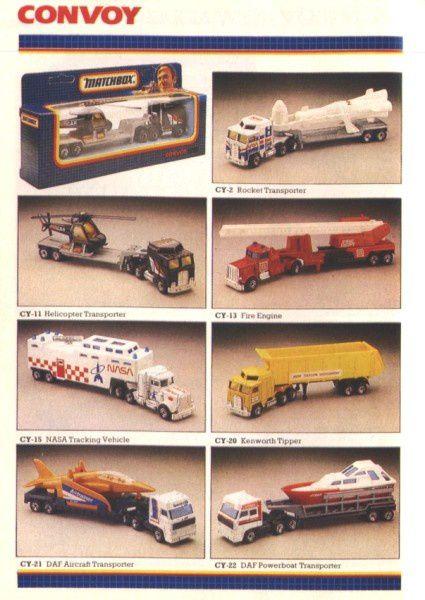 catalogue matchbox 1988 f28 nasa trucking vehicle