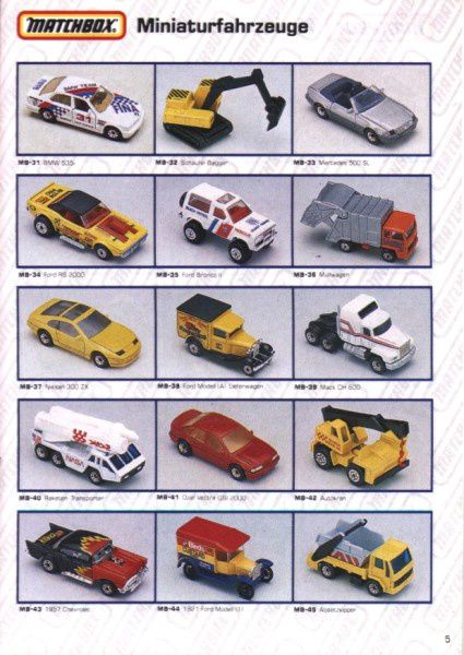 catalogue matchbox 1991 m05