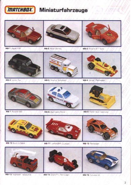 catalogue matchbox 1991 m03