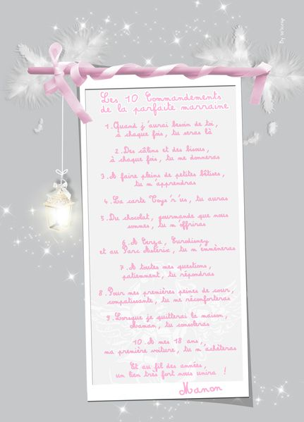 10 commandements marraine emilie