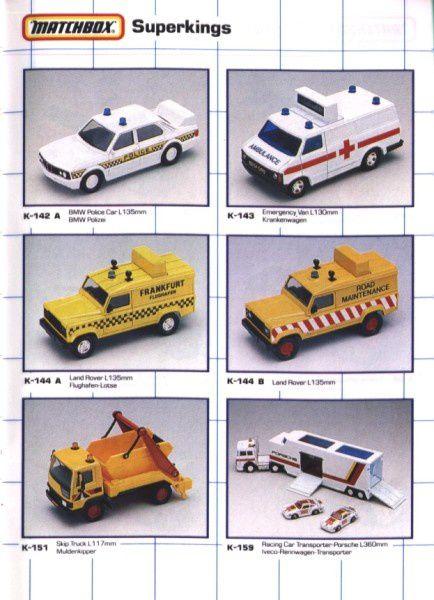 catalogue matchbox 1990 s32