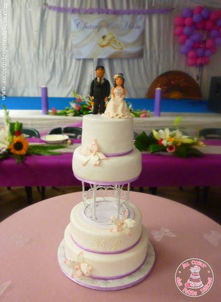 wedding cake noir et violet image romantique cake ideas and designs 23316