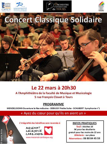 Affiche Concert Classique Tours