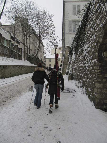 skieurs Montmartre