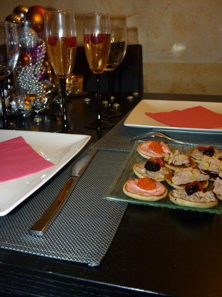 apéritif champagne-framboise