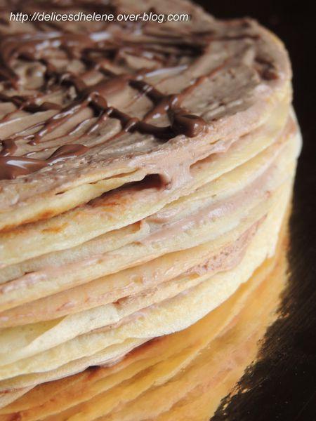 gâteau de crêpes au nutella (7)
