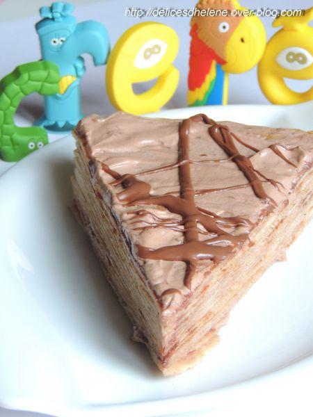 gâteau de crêpes au nutella (8)