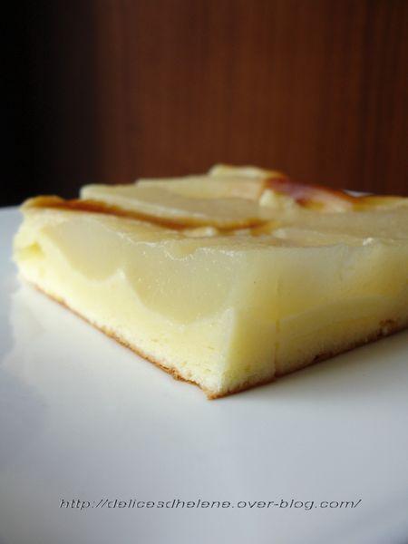 gâteau au fromage blanc 0% et poires (7)