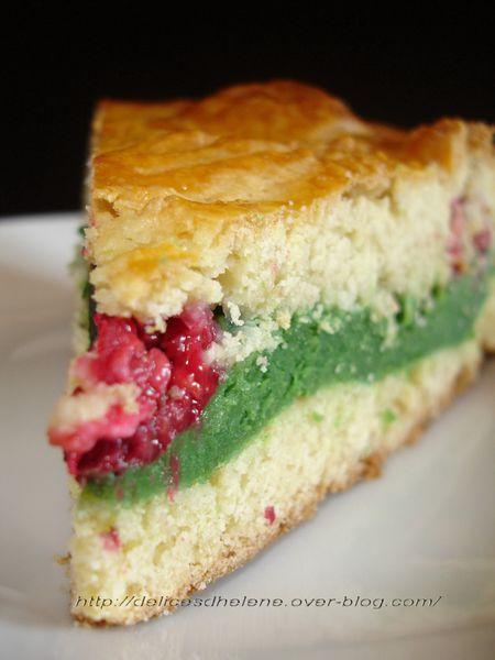 gâteau basque à la pistache et framboises (24)