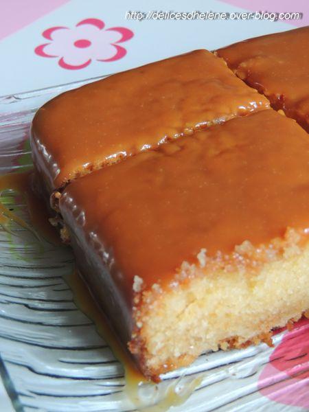 gâteau chocolat blanc, glaçage caramel au beurre salé (1