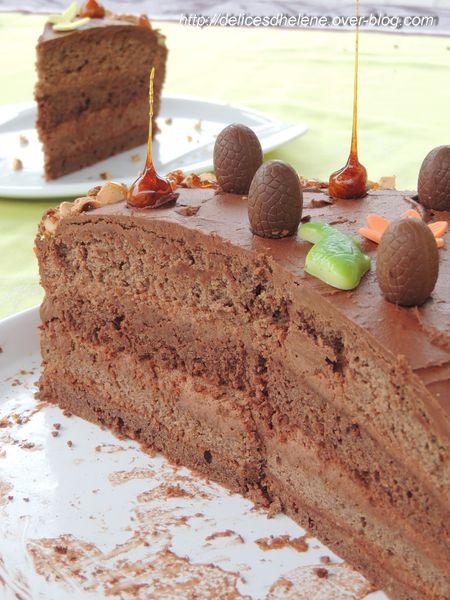 gâteau de pâques chocolat-noisette (9)